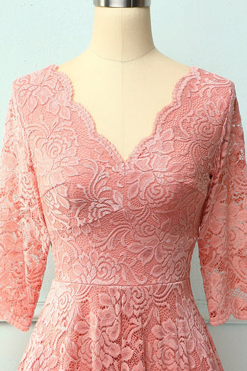 Blush 3/4 mangas vestido formal