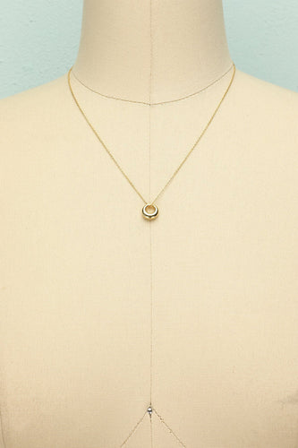 Gold Geometric Necklace - ZAPAKA