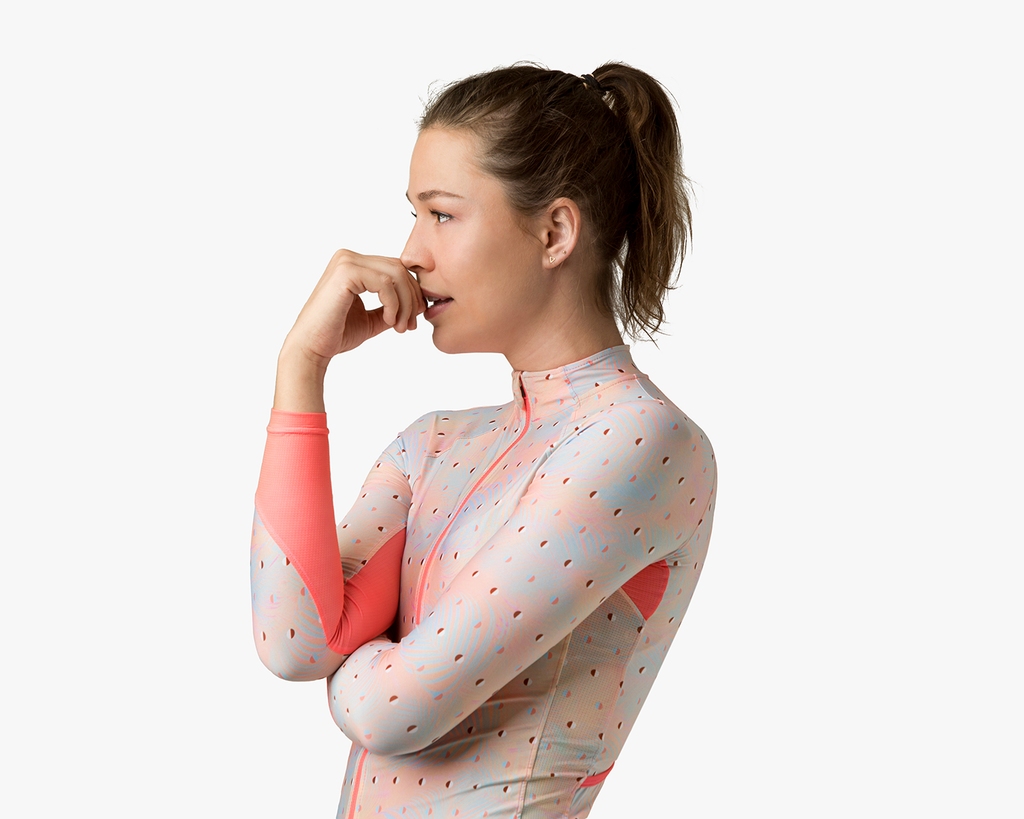 The Summerweight Long Sleeve Cycling Jersey in Palm