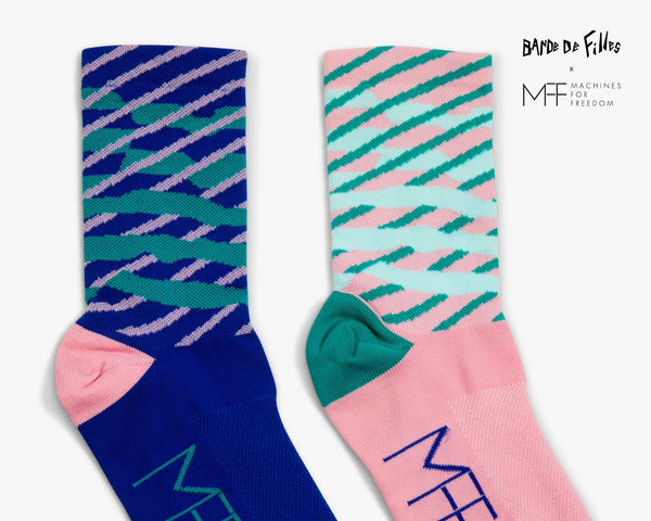 Futureisms Diagonal Cycling Sock