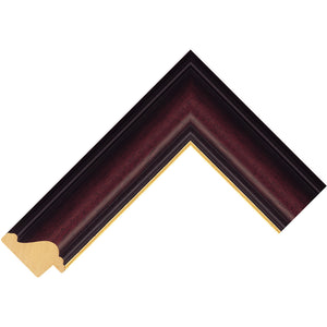 Mahogany picture frame with gold edge