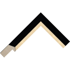 Black paint/Gold finish flat with a bevel profile frame 27mm wide