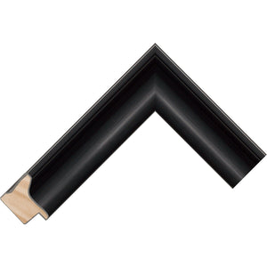 Black brushed scoop profile frame 38.1mm wide