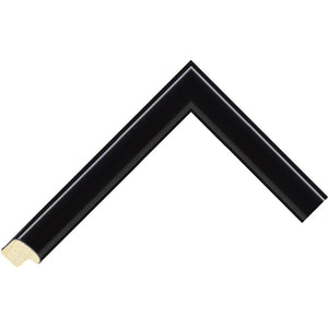 Black paint finish cushion profile frame 22mm wide