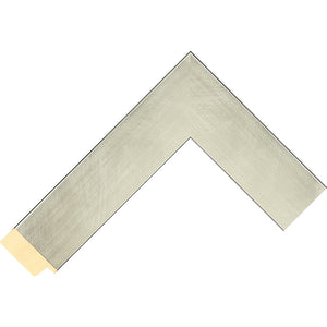 Silver brushed effect frame 36mm wide