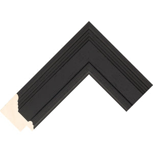 Black stain finish scoop profile frame 52mm wide