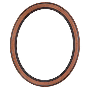 Walnut Oval Picture Frame
