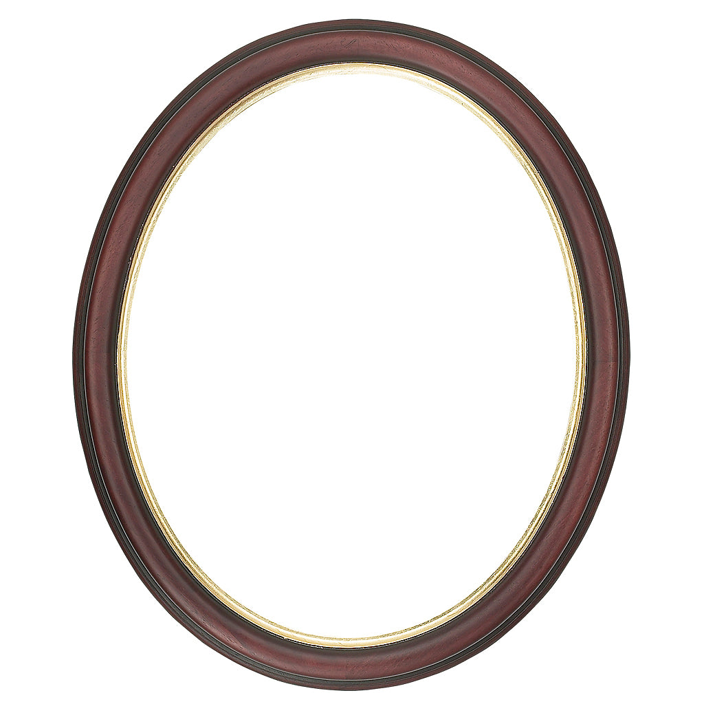 Mahogany Picture Frame with a gold edge