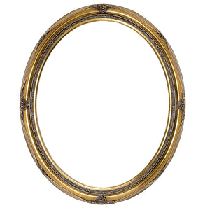Decorative Swept Gold Oval Frame