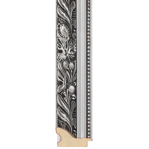 Silver ornate picture frame
