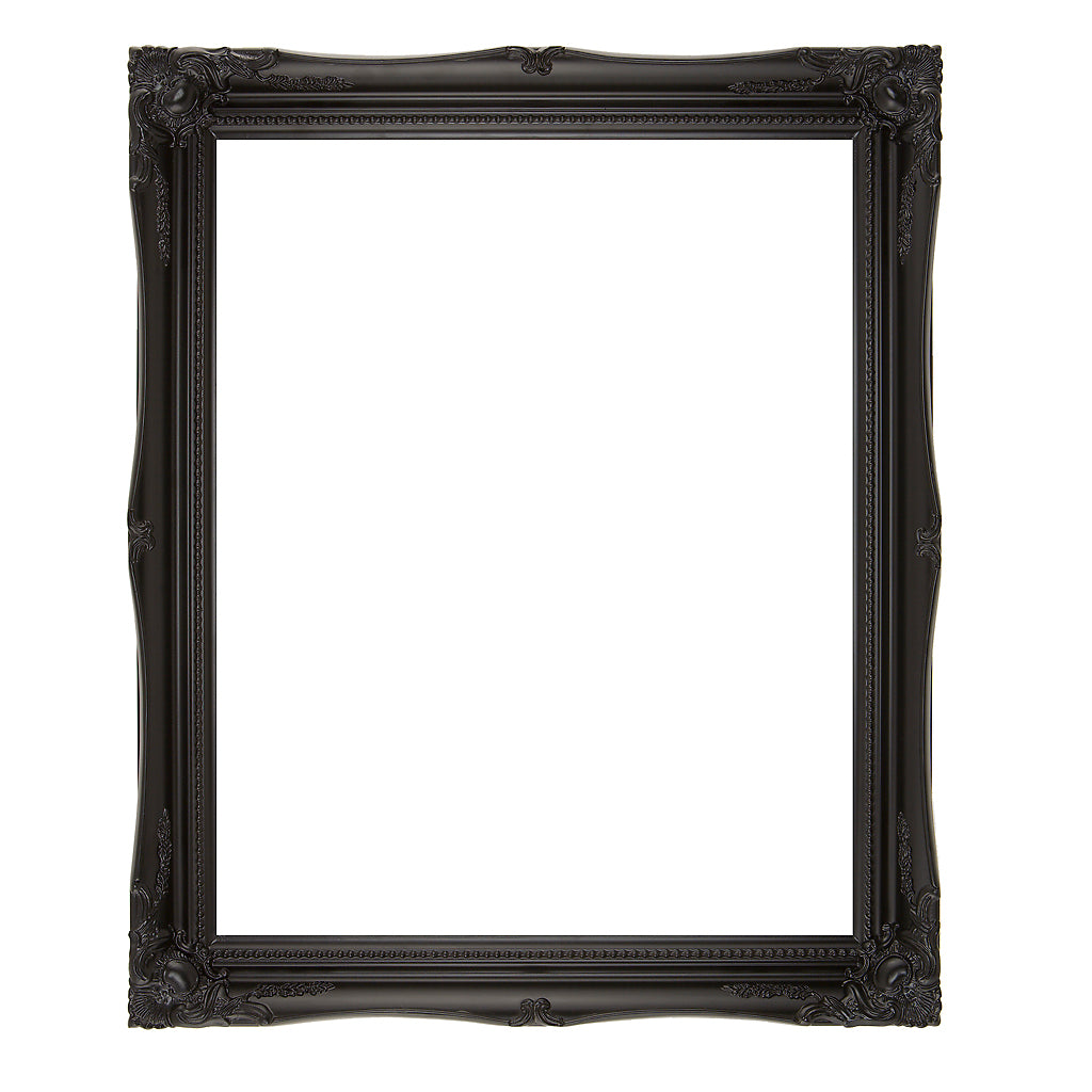 Black Swept Wooden Picture Frame 50mm wide
