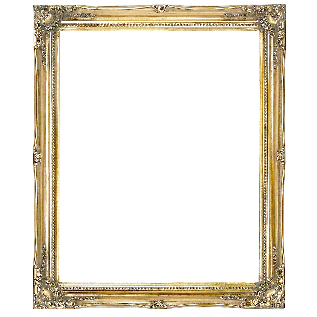 Gold swept wooden picture frame