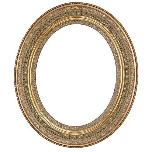 Decorative Antique Gold Oval Picture Frame