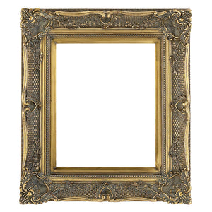 Gold Decorative Swept Wooden Picture Frame