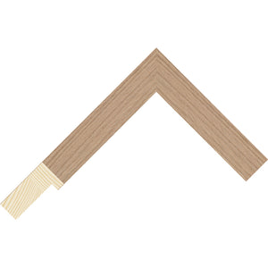 Oak wood veneer flat deep rebate frame 25mm wide