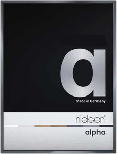 Nielsen Alpha Dark Grey Polished Readymade Frame