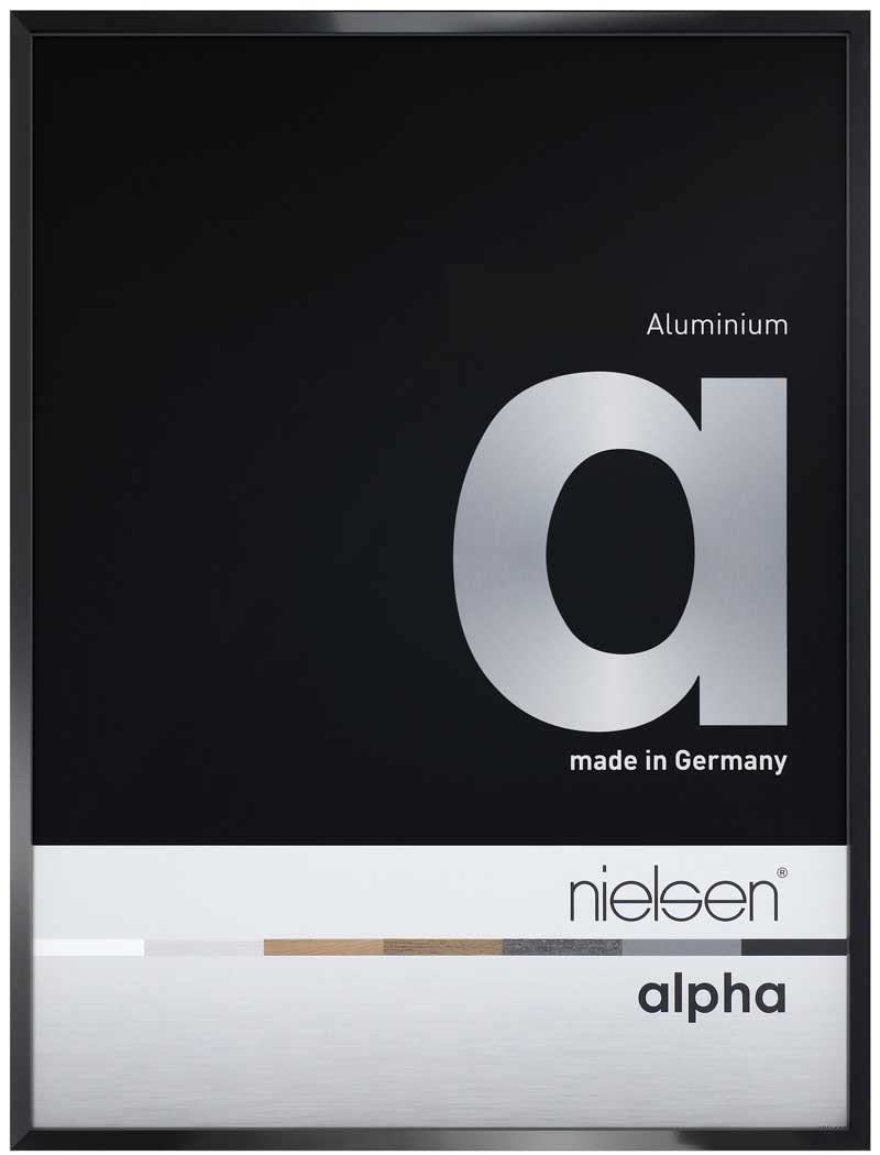 Nielsen Alpha Jet Black Polished Readymade Frame