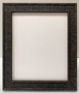 Steel rust effect wooden picture frame