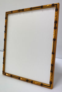 Gold effect bamboo picture frame