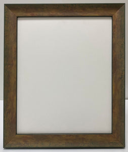Green/Gold/Beige hand finished effect wooden Picture Frame (30mm wide)