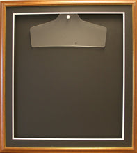 Load image into Gallery viewer, Readymade Shirt Frame. Large Brown with a Gold edge.