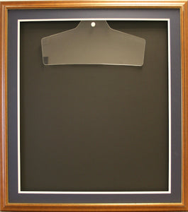 Readymade Shirt Frame. Large Brown with a Gold edge.