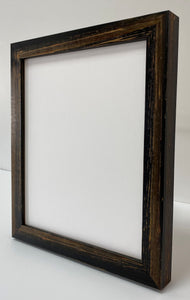 Black hand finished artisan Wooden Picture Frame (30mm wide)