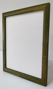 Green hand finished artisan Wooden Picture Frame (24mm wide)
