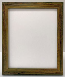 Green hand finished artisan Wooden Picture Frame (30mm wide)
