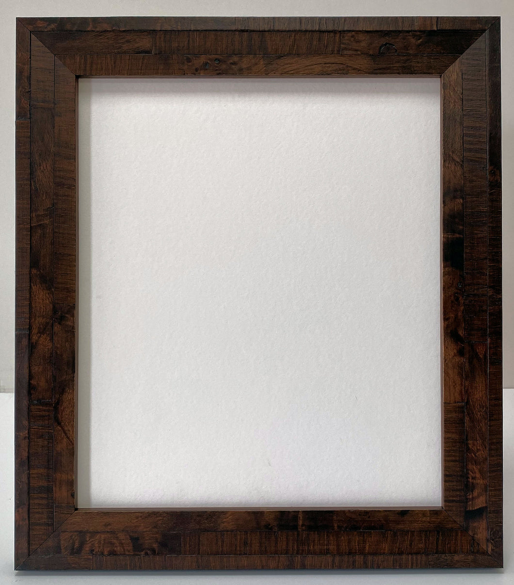 Walnut colour real veneer Wooden Picture Frame (39mm wide)