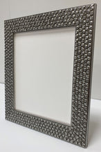 Load image into Gallery viewer, Silver leaf effect Skull wooden picture frame. (52mm wide)
