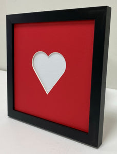 Valentine's day wooden photo frame