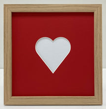 Load image into Gallery viewer, Valentine's oak photo frame
