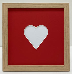 Valentine's oak photo frame