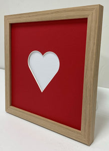 valentine's day oak wooden photo frame