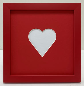 valentine's day love heart photo frame