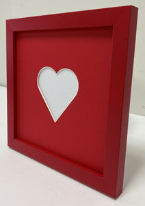 Valentine's love heart photo frame