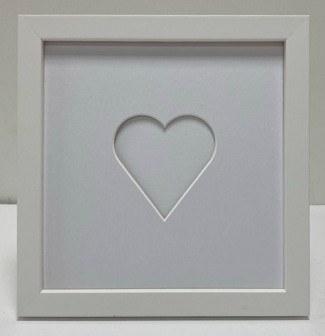 Love heart wooden photo frame