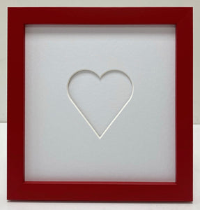 Love heart photo frame