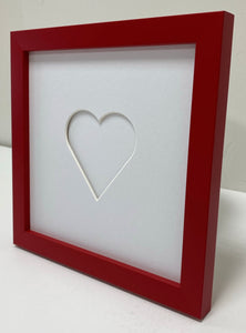 Love heart wooden frame