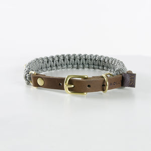 Molly & Stitch Touch of Leather Hundehalsband Grey
