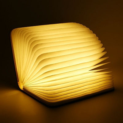 Wooden Folding Book Lamp
