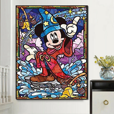 5D diamond painting cross stitch kit mosaic round rhinestone