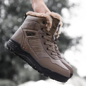 Men's Large size Leather Sport Winter Boots-FREE SHIPPPING