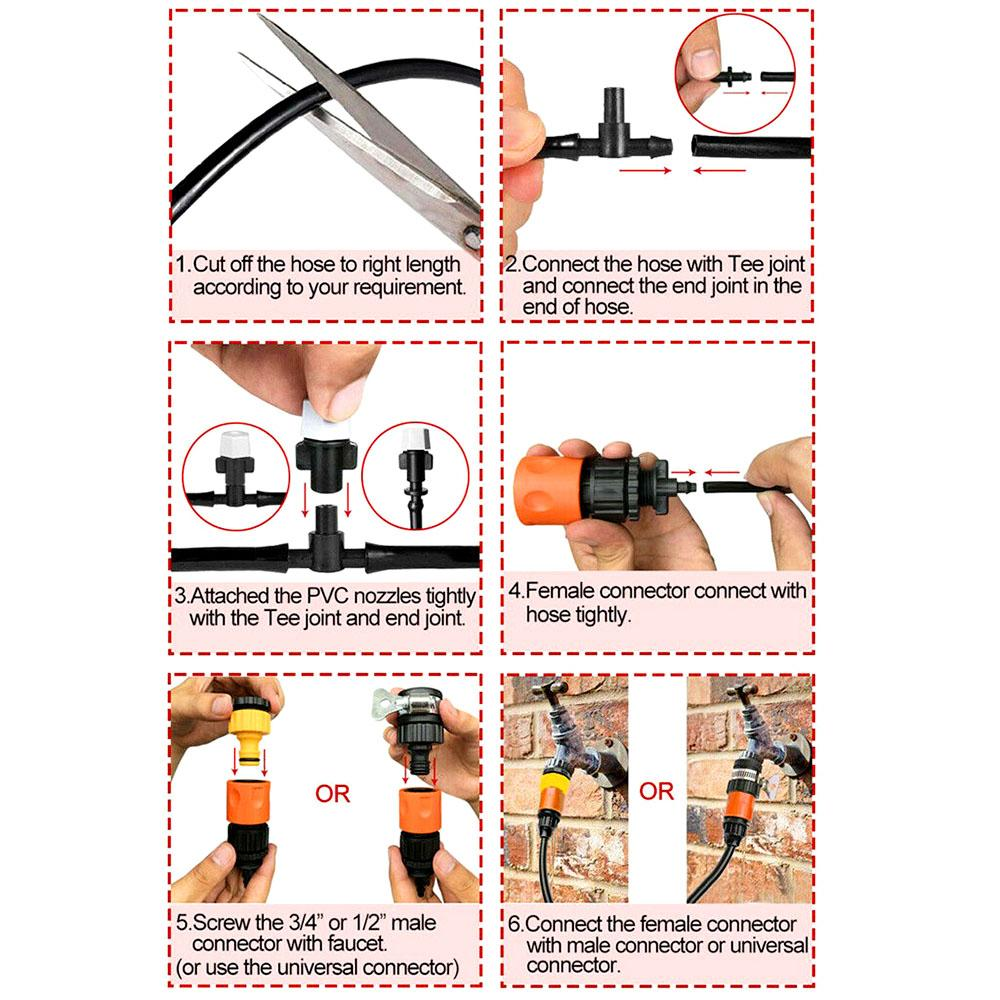 Single-outlet spray nozzle atomization set