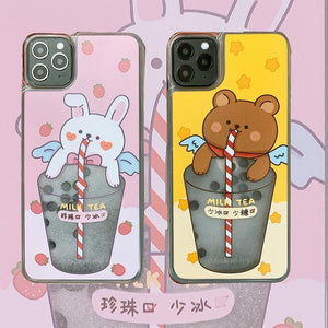 Pearl milk tea quicksand phone case(50% OFF Before the new year)