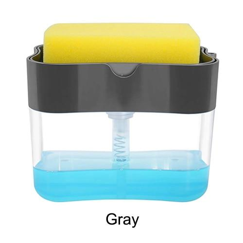 2-in-1 Sponge Rack Soap Dispenser Soap Dispenser