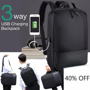 (50% off for new year)Premium Anti-theft Laptop Backpack with USB Port