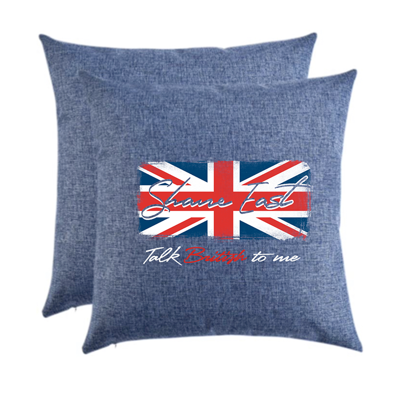 "Shane East ""Talk British"" Union Jack Pillow"