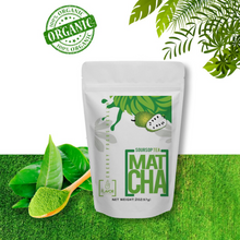 Load image into Gallery viewer, GRAVIOLA MATCHA - SOURSOP JAPANESE MATCHA GREEN TEA POWDER - ORGANIC - FIBER - IMMUNE SUPPORT - 2OZ POUCH